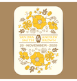 Invitation card with yellow flowers vector image vector image