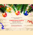 invitation to a christmas party vector image vector image