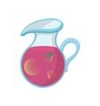 Jar of fresh sangria icon cartoon style vector image vector image