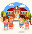 kids and marks poster vector image