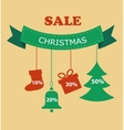Large Christmas sale Decorations with discount vector image vector image