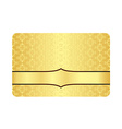 Luxury Golden Card with Inscribed Vintage Pattern vector image vector image