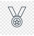 medal concept linear icon isolated on transparent vector image