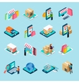 Mobile Shopping Isometric Icons Set vector image vector image