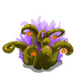 mystical plant with thorns and pumpkins halloween vector image