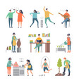 people hobbies writers painters male and female vector image