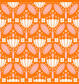 pink and white flowers symmetric ornament pattern vector image