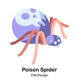 poison spider flat icon vector image vector image