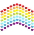 rainbow flag line backdrop heart shape lgbt gay vector image vector image