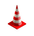 red cone icon in photorealistic style vector image