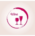 Red wine emblem vector image