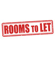 rooms to let sign or stamp vector image vector image