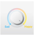 sad and happy switch control knob vector image