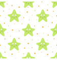 seamless pattern with cartoon starfish on white vector image vector image