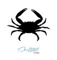 silhouette crab crab badge for design seafood vector image