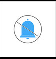 soundless and mute solid icon mobile sign vector image vector image