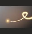 sparkle stardust magic light effect golden vector image vector image