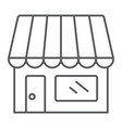 store thin line icon business and market vector image vector image