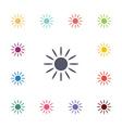 sun flat icons set vector image
