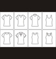 t-shirt outline icon vector image