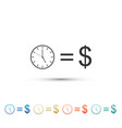 time is money sign isolated money is time vector image