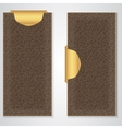 Two brown leather VIP vertical banner with a gold vector image vector image
