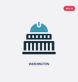 two color washington icon from united states vector image