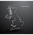 United Kingdom map2 vector image