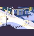 urban landscape with empty street corner elegant vector image vector image