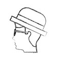 venetian gondolier traditional icon vector image vector image