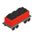 Wagon with coal 3d isometric icon vector image vector image