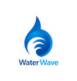 water wave abstract logo vector image vector image