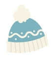 Winter cup hat flat icon vector image vector image