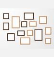 wooden frame wood blank picture frames vector image vector image