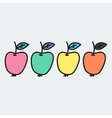 Doodle apple Hand-drawn object isolated on white vector image