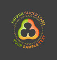 peppers slices logo vector image