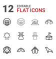 12 circus icons vector image vector image