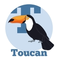 ABC Cartoon Toucan2 vector image vector image
