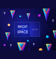 abstract geometric background colorful motiom 3d vector image vector image