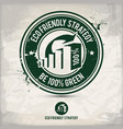 alternative eco strategy stamp vector image