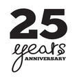 ANNIVERSARY script4 resize vector image vector image