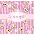 Baby girls seamless pattern for card - it is a vector image vector image