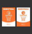 basketball brochure or web banner design vector image