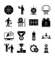 basketball game recreation sport silhouette style vector image vector image