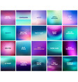 big set of 20 square blurred purple pink turquoise vector image vector image