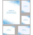 Blue page corner design template set vector image vector image
