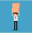 businessman is carrying a boxes vector image vector image