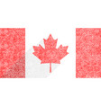 canadian flag the maple leaf in flat style vector image