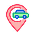 car gps map mark icon outline vector image