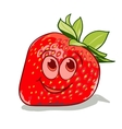 cartoon strawberry vector image vector image